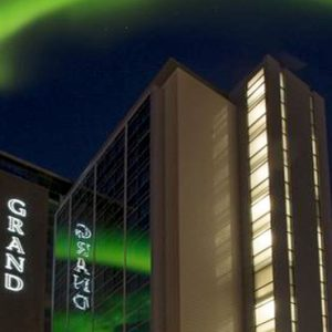 Hotel Exterior And Nothern Lights Hotel Grand Reykjavik Iceland Honeymoons