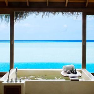 Anantara Dihug Resort Maldives water villa bathroom