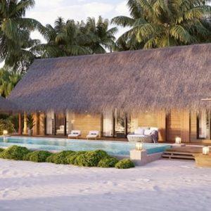 Luxury Maldives Holiday Packages Waldorf Astoria Maldives Ithaafushi King Beach Villa With Pool 2