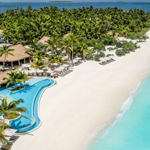 Maldives Honeymoon Package InterContinental Maldives Maamunagau Resort Aerial View Beach