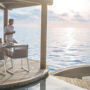 Maldives Honeymoon Package InterContinental Maldives Maamunagau Resort Deck Overview