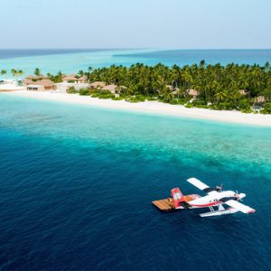 Maldives Honeymoon Package InterContinental Maldives Maamunagau Resort Aerial Overview