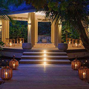 Maldives Honeymoon Packages Baglioni Maldives Resorts Baglioni SPA Entrance Deck At Night