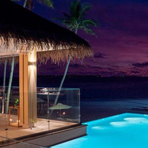 Maldives Honeymoon Packages Baglioni Maldives Resorts Restaurant At Sunset