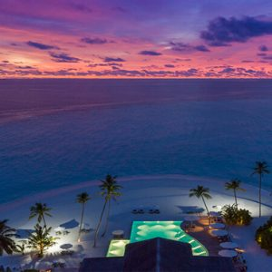 Maldives Honeymoon Packages Baglioni Maldives Resorts Beach Aerial View At Sunset
