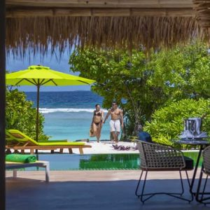 Maldives Honeymoon Packages Emerald Resort & Spa Couple By Villa Pool