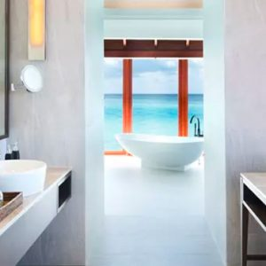 Maldives Honeymoons Anantara Dhigu Maldives Resort Anantara Over Water Pool Suite Bathroom