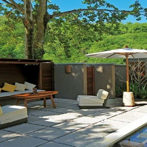 Constance Ephelia - Luxury Seychelles Honeymoon Packages - Beach villa exterior lounge deck