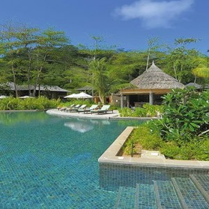 Constance Ephelia - Luxury Seychelles Honeymoon Packages - Helios restaurant and bar pool view1
