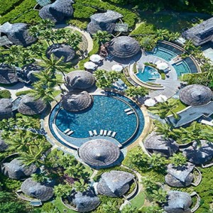 Constance Ephelia - Luxury Seychelles Honeymoon Packages - Spa village aerial view
