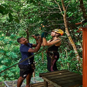 Constance Ephelia - Luxury Seychelles Honeymoon Packages - Zipline