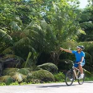 Constance Ephelia - Luxury Seychelles Honeymoon Packages - bicycling