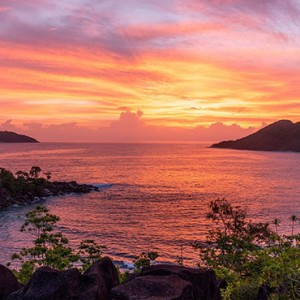 Constance Ephelia - Luxury Seychelles Honeymoon Packages - ocean view at sunset