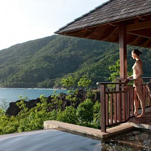 Constance Ephelia - Luxury Seychelles Honeymoon Packages - women on villa deck