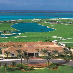 Ocean Club Golf Course Aerial View The Cove At Atlantis Bahamas Honeymoons