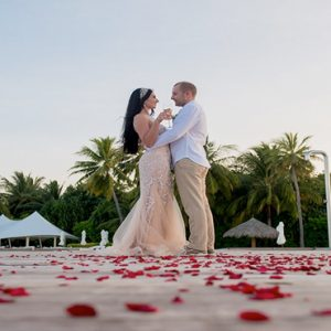 Maldives Honeymoon Packages Conrad Maldives Rangali Island Couple Wedding On The Beach1