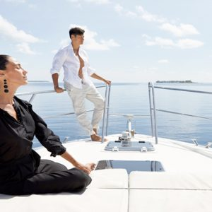 Maldives Honeymoon Packages Conrad Maldives Rangali Island Couple On Boat