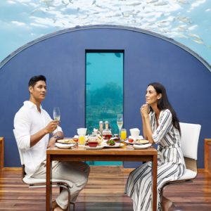 Maldives Honeymoon Packages Conrad Maldives Rangali Island Ithaa Undersea Restaurant1