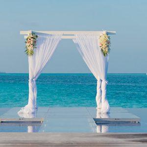 Maldives Honeymoon Packages Conrad Maldives Rangali Island Wedding Setup On The Beach