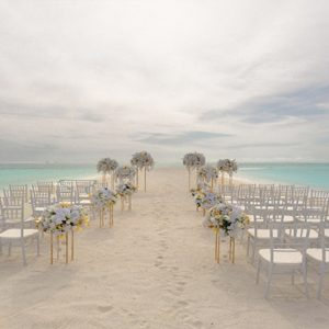 Maldives Honeymoon Packages Conrad Maldives Rangali Island Wedding Setup On The Beach1