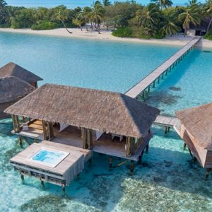 Maldives Honeymoon Packages Conrad Maldives Rangali Island Aerial View Of Overwater Spa