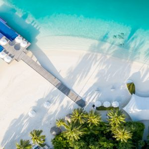 Maldives Honeymoon Packages Conrad Maldives Rangali Island Aerial View Of Quiet Zone Pool