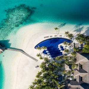 Maldives Honeymoon Packages Conrad Maldives Rangali Island Aerial View Of Resort