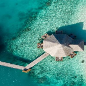 Maldives Honeymoon Packages Conrad Maldives Rangali Island Aerial View Of Restaurant
