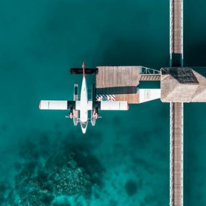 Maldives Honeymoon Packages Conrad Maldives Rangali Island Aerial View Of Seaplane Transfers