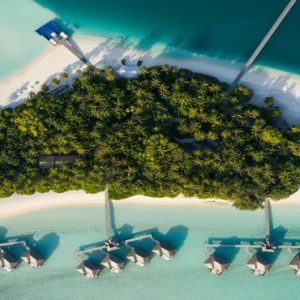 Maldives Honeymoon Packages Conrad Maldives Rangali Island Aerial View Of Villas