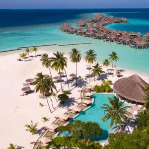 Maldives Honeymoon Packages Constance Halaveli Resort Aerial View 2