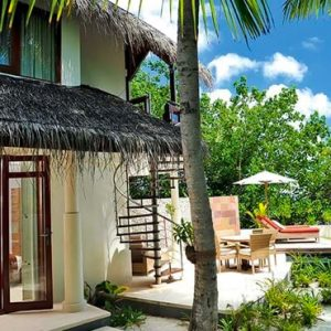 Maldives Honeymoon Packages Constance Halaveli Resort Double Storey Beach Villa Exterior