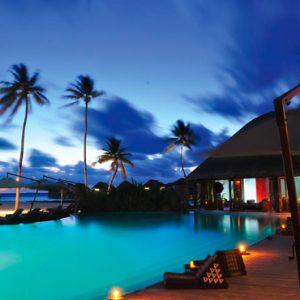 Maldives Honeymoon Packages Constance Halaveli Resort Poolside At Night