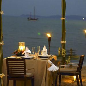Anantara Koh Samui beach by the dinner