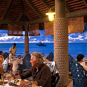 Dine by the sea - Sandals Antigua Grande Resort and Spa - Luxury Antigua Honeymoons
