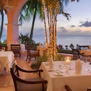 Fairmont Royal Pavilion ocean view dining