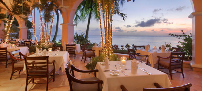 Fairmont Royal Pavilion ocean view dining