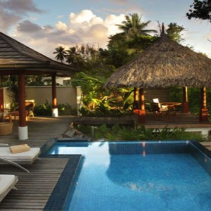 Hilton Seychelles Labriz Resort & Spa - Luxury Seychelles Honeymoon Packages - Exterior of villa