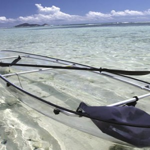 Hilton Seychelles Labriz Resort & Spa - Luxury Seychelles Honeymoon Packages - Glass bottom kayaking