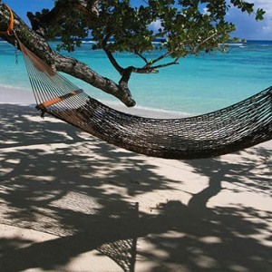 Hilton Seychelles Labriz Resort & Spa - Luxury Seychelles Honeymoon Packages - Hammock on beach