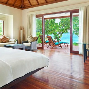 Hilton Seychelles Labriz Resort & Spa - Luxury Seychelles Honeymoon Packages - King Beachfront Villa Interior1