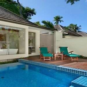 Hilton Seychelles Labriz Resort & Spa - Luxury Seychelles Honeymoon Packages - King Beachfront Villa with pool exterior