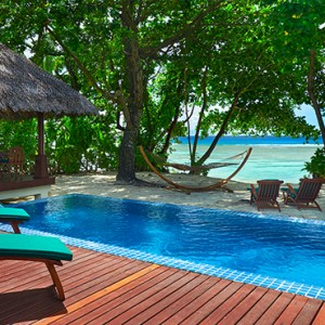 Hilton Seychelles Labriz Resort & Spa - Luxury Seychelles Honeymoon Packages - King Deluxe Beachfront Pool villa exterior