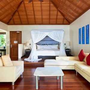 Hilton Seychelles Labriz Resort & Spa - Luxury Seychelles Honeymoon Packages - King Deluxe Beachfront Pool villa interior
