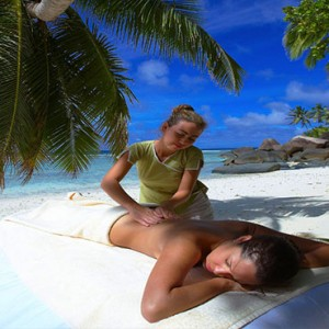 Hilton Seychelles Labriz Resort & Spa - Luxury Seychelles Honeymoon Packages - Outdoor spa message