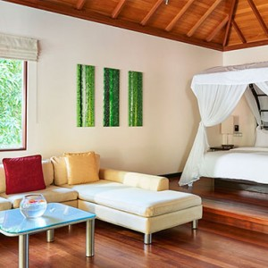 Hilton Seychelles Labriz Resort & Spa - Luxury Seychelles Honeymoon Packages - Sanctuary Pool Villa bedroom