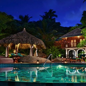 Hilton Seychelles Labriz Resort & Spa - Luxury Seychelles Honeymoon Packages - spa pool exterior