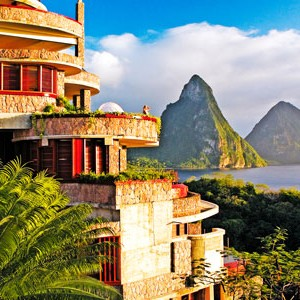 Jade Mountain magnificent views raomntic honeymoon
