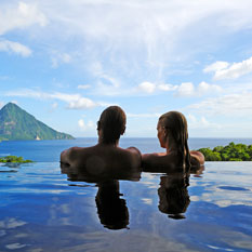 Jade Mountain romantic honeymoon