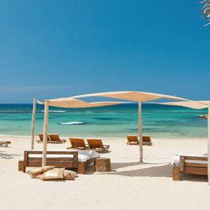 Jamaica Honeymoon Packages Sandals Ochi Beach Resort Day Beds By The Beach